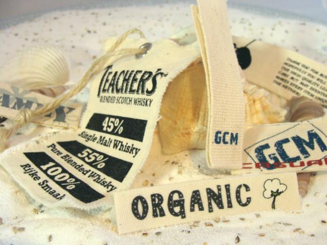 labels van organisch katoen