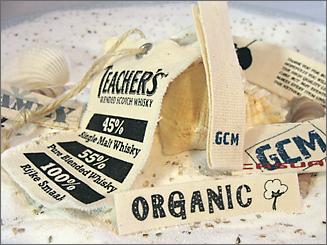 Organic - bedrukte labels